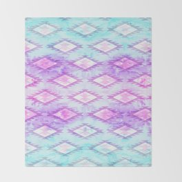 Watercolor Navaho Throw Blanket