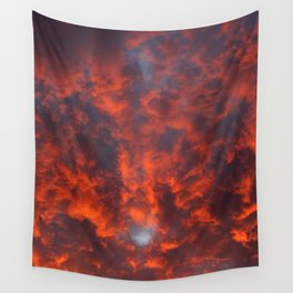 Orange Clouds Wall Tapestry
