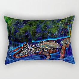 Galaxy Gator Rectangular Pillow