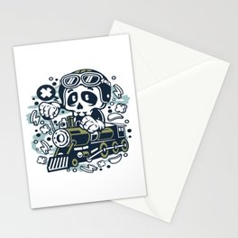 Skull Trainfor animated characters comics and pop culture lovers Stationery Cards