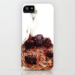 Spaghetti and Meatballs iPhone Case
