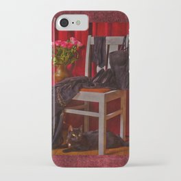 When will she come back? I am waiting .... a cat iPhone Case
