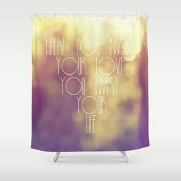 Bokeh Quote Shower Curtain