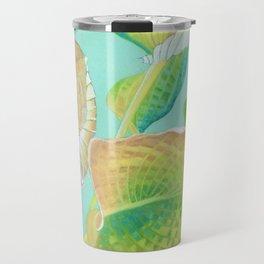Hosta leaves Travel Mug