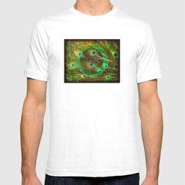 The Peacock Dream In Gold T-shirt