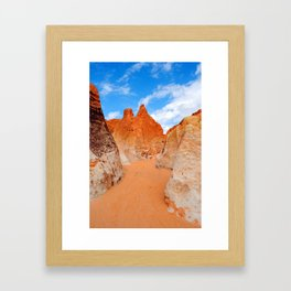 Red Sand Canyon Framed Art Print