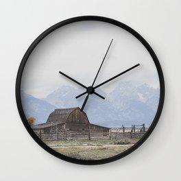 Mormon Row Wall Clock