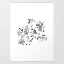 Ink Thoughts Seven Art Print