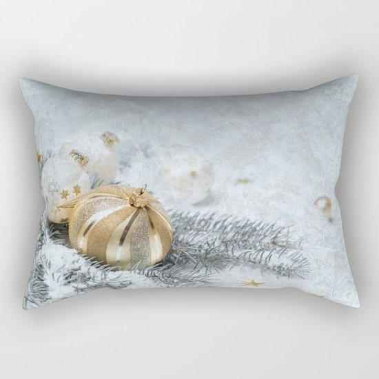 Silver gold ornaments Rectangular Pillow
