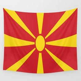 Flag of Macedonia - Macedonian,skopje,Bitola,Kumanovo,Prilep,Balkan,Alexander the great,Karagoz,red Wall Tapestry