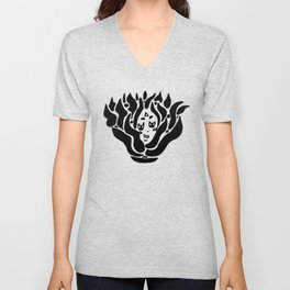 fire spirit (bw) Unisex V-Neck