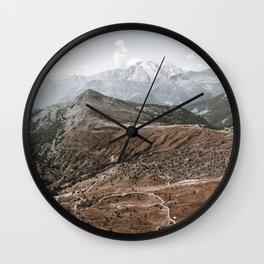 The Mountains V / Dolomites, Italy Wall Clock