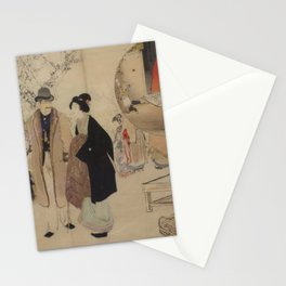 Diligence and Maxim by Mizuno Toshikata, 1902 Stationery Cards