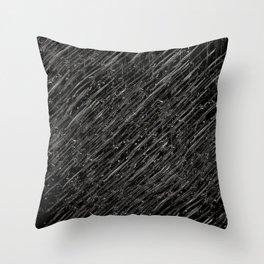 Ballpoint lines in White on Black Throw Pillow