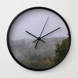Mountian mist Wall Clock