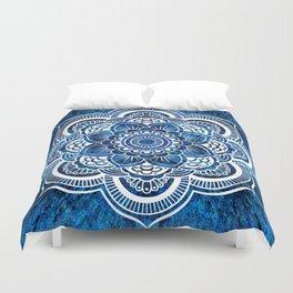 Mandala Cerulean Blue Colorburst Duvet Cover