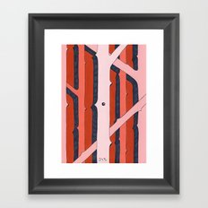 Mono Pattern | The Rosewood Framed Art Print