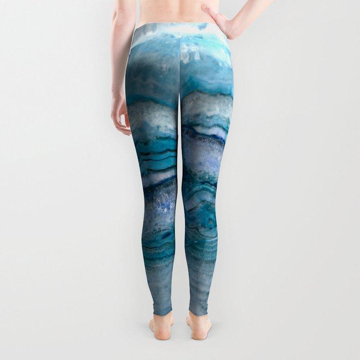 Mystic Stone Aqua Blue Leggings