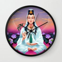 Kuan Yin Bodhisattva Wall Clock