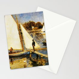 Pierre-Auguste Renoir - The Seine At Argenteuil - Digital Remastered Edition Stationery Cards