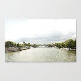Paris River Seine Canvas Print