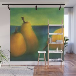 watercolor pears Wall Mural