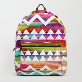 Aztek watercolor pattern Backpack