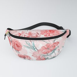 Vintage & Shabby Chic - Rose Blush Garden Flowers Fanny Pack