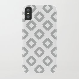 Graphic_Tile Grey iPhone Case