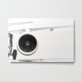 Aircraft turbine Metal Print