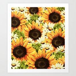 Summer Garden (Sunflower Sunshine) Art Print
