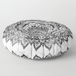 BLACK JEWEL MANDALA Floor Pillow