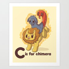 C is for Chimera Art Print