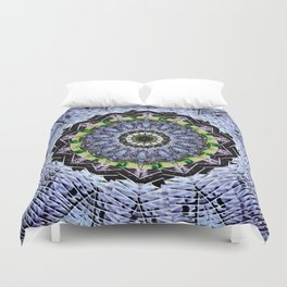 Fossils and Leaves Duvet Cover