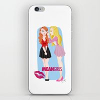 mean girls iPhone & iPod Skins featuring Mean Girls by Cerys Edwards