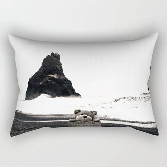 Teddy Looking for a Friend Rectangular Pillow