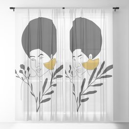 Sophisticated Woman Sheer Curtain