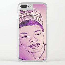 Maya Angelou by Double R Clear iPhone Case