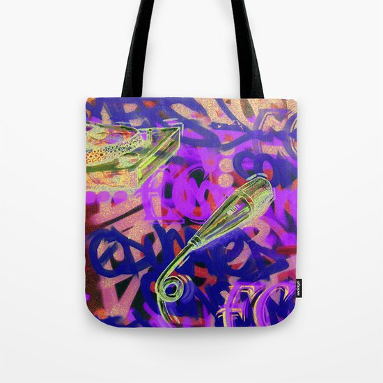 Turntables and a Mic (original sold) Tote Bag