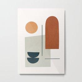 Minimal Shapes No.38 Metal Print