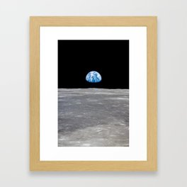 Earth Rising, Galaxy Background, Universe Large Print, Space Wall Art Decor, Deep Space Poster Decor Framed Art Print