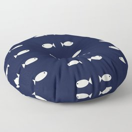 Fish Pattern,Nautical Floor Pillow