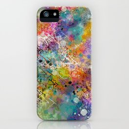 PAINT STAINED ABSTRACT iPhone Case