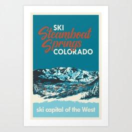 Steamboat Springs Vintage Ski Poster Art Print