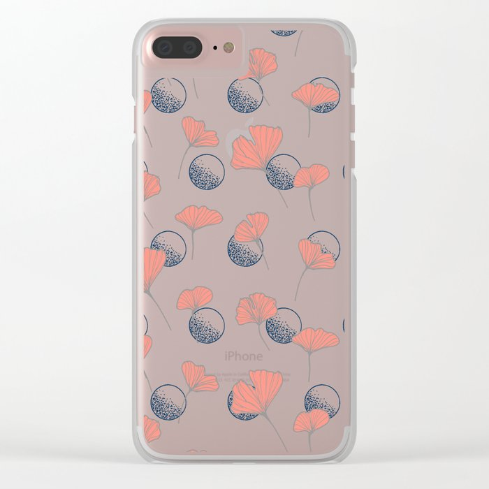 Delicate Ginkgo&Dots #society6 #decor #buyart Clear iPhone Case
