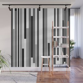 White Lines Wall Mural