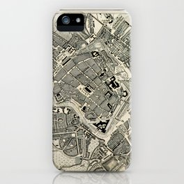 Plan von Leipzig iPhone Case