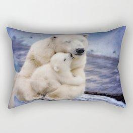 Polar Bear Love Rectangular Pillow