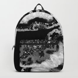 Yin Yang Agate Glitter Glam #4 #gem #decor #art #society6 Backpack