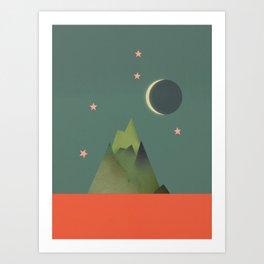 Mountains Under the Stars Art Print